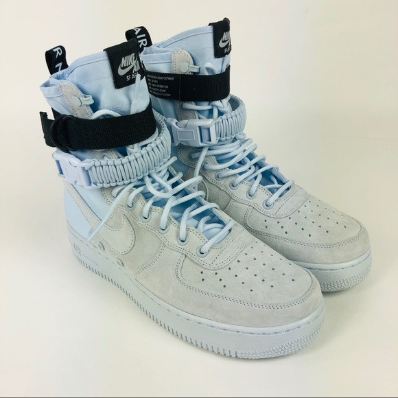 2018 Nike SF AF1 Air Force 1 High SZ 10 Blue Tint NWT